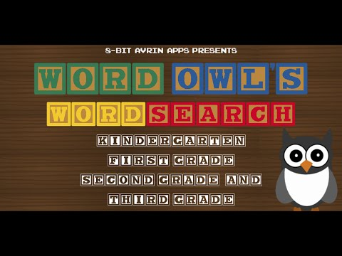 Word Owl's Word Search (Sight Words) - Mobile Apps Trailer (K, 1st, 2nd, & 3rd Grade) HD