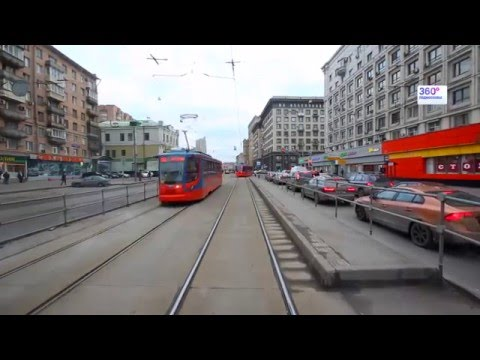 Travel Russia Moscow by tram №7
