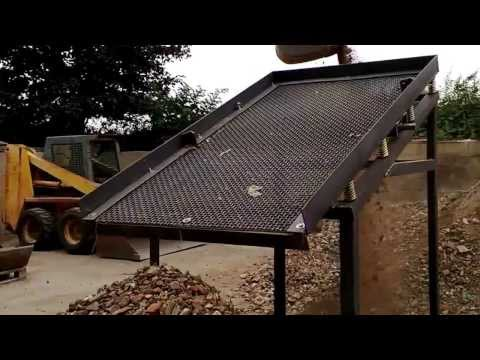 VIDEO 3 TEST -TRIAL RUN NEW DEMO SOIL WASTE SCREENER UPRATED MK3 MODEL