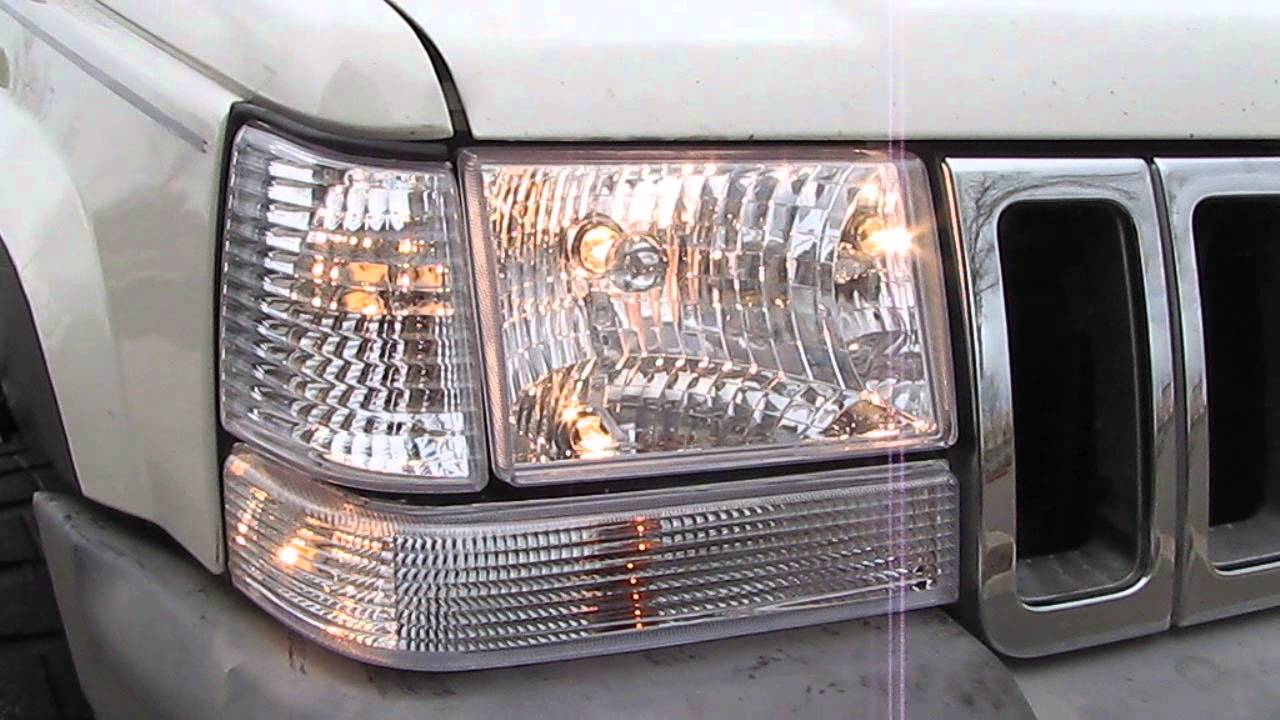 Jeep Grand Cherokee Laredo Limited Zj Headlights Euro Clear Corner Markers Turn Signals Hid Xenon