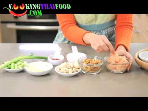 How to make cashew chicken recipe thai stir fried chicken with how to make cashew chicken recipe thai stir fried chicken with cashew nuts thai food video youtube forumfinder Image collections