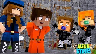 THE BABY TWINS SAVE STEVE'S LIFE IN PRISON!! Minecraft LIFE of ALEX & STEVE