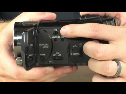 Sony hdr-cx550v handycam® hd camcorder with built-in gps receiver.