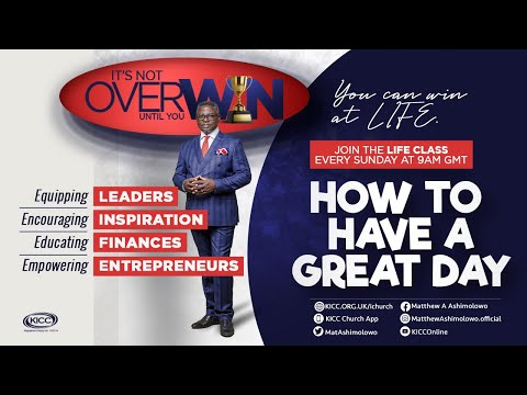 KICC Life Class LIVE | How To Have A Great Day | 01-11-2020