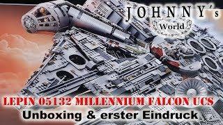 Lepin 05132 Millennium Falcon - Unboxing und erster Eindruck