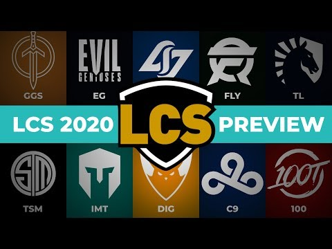 LCS 2020 Preview   Teams & Players In League Championship Series 2020 Spring Season