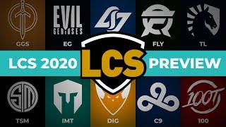 LCS 2020 Preview | Teams & Players in League Championship Series 2020 Spring Season