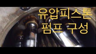 유압펌프 중 유압피스톤펌프의 구성과 작동원리 이해