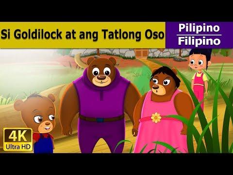 Si Goldilock at ang Tatlong Oso - Mga Kuwentong Karikatura tagalog - 4K UHD - Filipino Fairy Tales