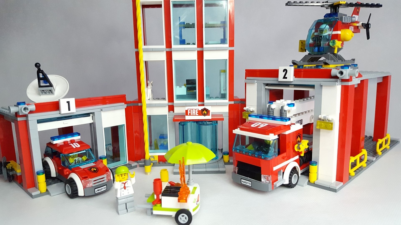 Lego City 60110 Fire Station Straż Pożarna Remiza Youtube