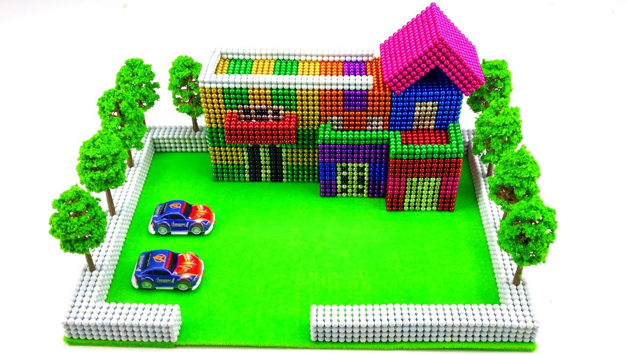 How to Make a Mansion House From Magnetic Balls