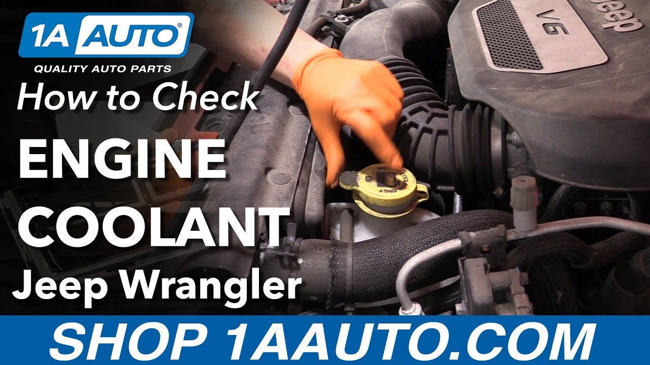 How To Check Engine Coolant 06 18 Jeep Wrangler Youtube