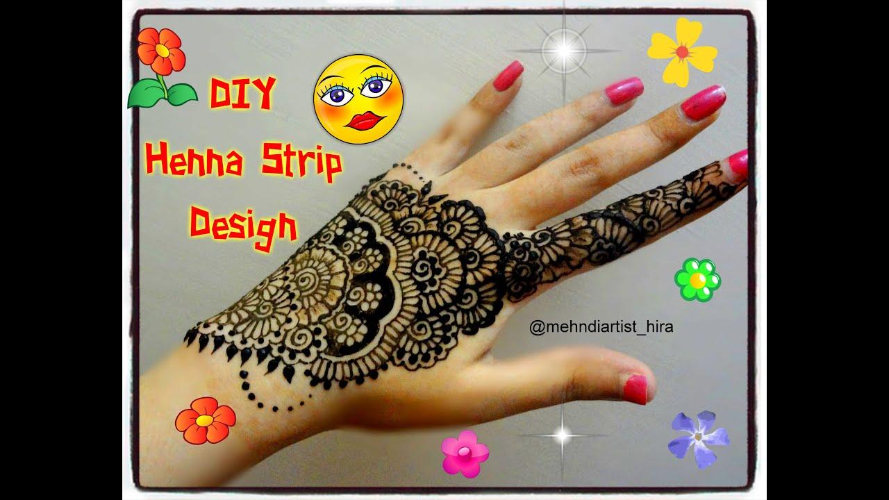Arabic Mehndi Designs 2013 Facebook - Easy simple beautiful arabic henna strip bail mehndi designs for hands tutorial for eid weddings