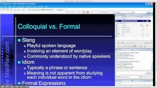 TOEFL Business English - Slang vs Idioms | Manhattan Review