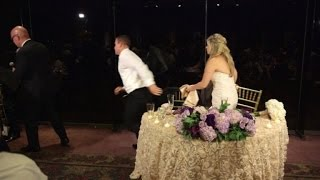 Watch a Groom Rescue a Guest Choking During His Wedding