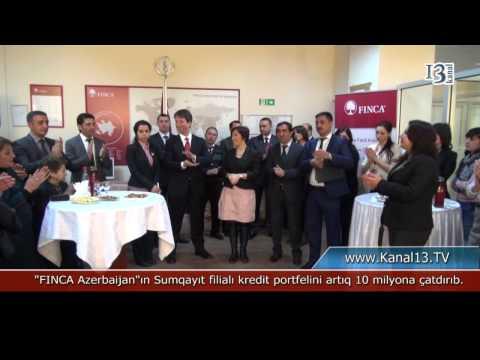 """""""FINCA Azerbaijan""""ın Sumqayıt filialı kredit portfelini artıq 10 milyona çatdırıb."""