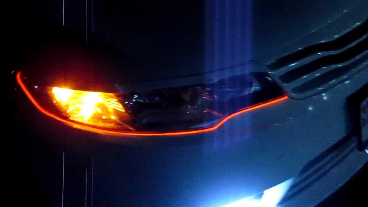 RoyalCarTuning Установка неоновой подсветки на фары