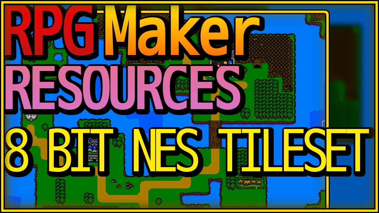 RPG Maker MV 8 BIT NES-Like Tileset Now Available!