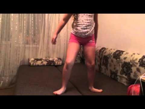 гимнастика для девочек, мостик с переворотом.