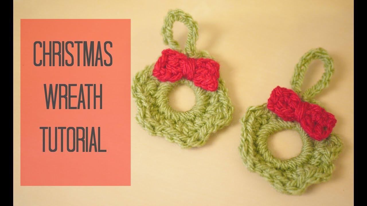 CROCHET: Christmas wreath tutorial | Bella Coco - YouTube