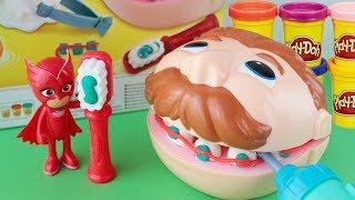 Gufetta dentista con il DOTTOR TRAPANINO Play-Doh [Giochi divertenti con i Pj Masks]