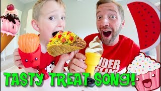 Father & Son SING THE TASTY TREAT SONG! / Don't Eat it!