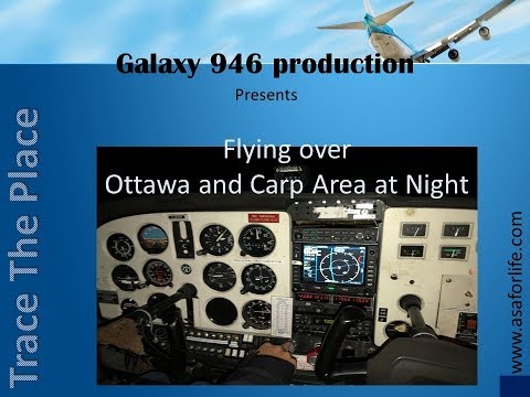 From the Air: Ottawa and Carp area at night