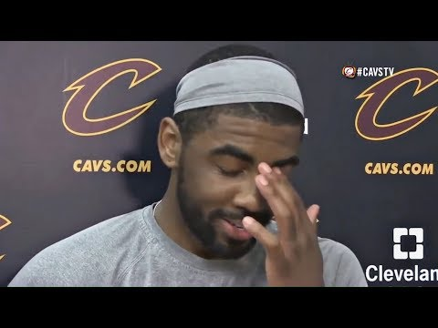 "Kyrie Irving ANNOYED At Media's Question About LeBron James ""Father Figure Role"" On Him And The Cavs"