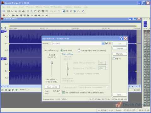 Нормализация звука в Sound Forge Pro 10 (19/46)