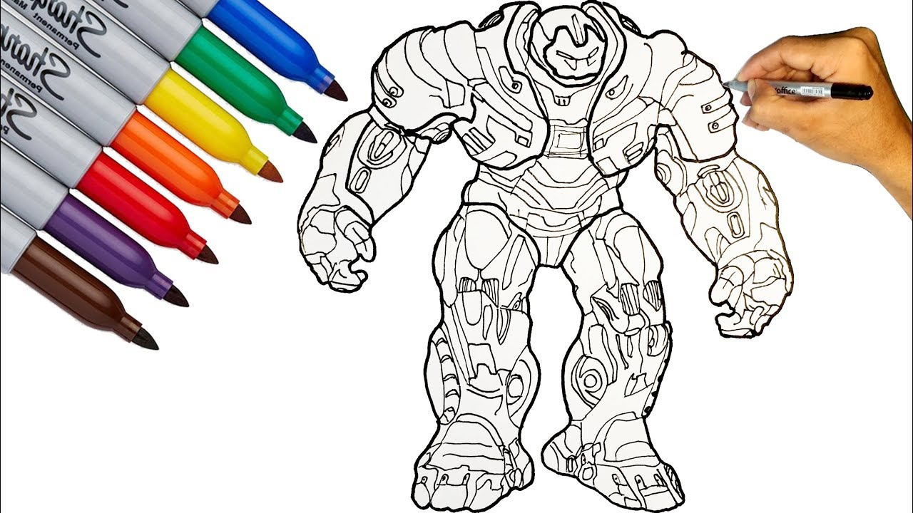 Hulkbuster Hulkbuster Mark 49 Coloring Pages How To Draw Hulkbuster The Avengers Endgame Youtube