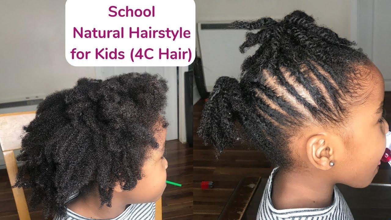 Cute Simple Hairstyle For School Kids 4c Hair Kenny Olapade