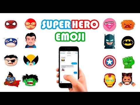 Superhero Emoji Keyboard For IOS & Android   Download Emoji