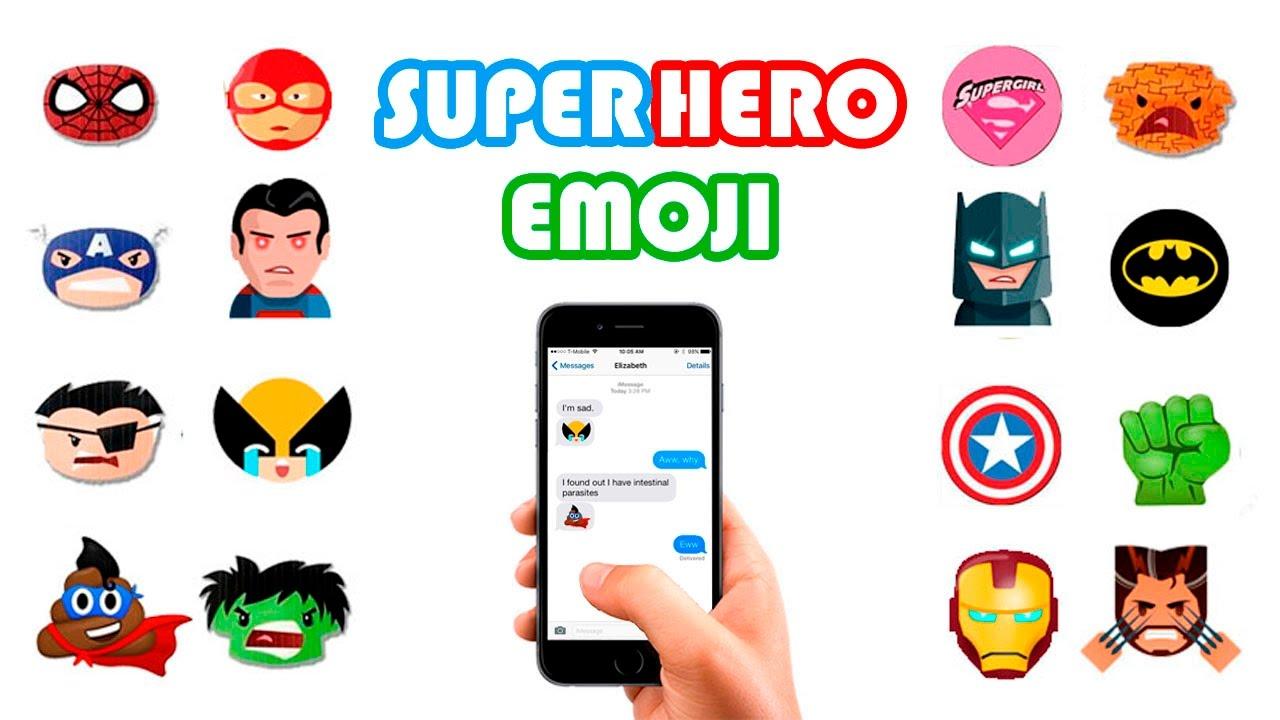 Superhero Emoji Keyboard for iOS & Android | Download Emoji