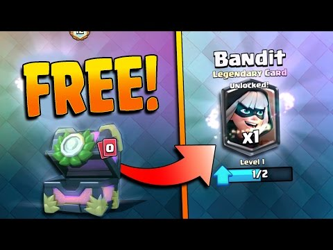 UNLOCK A FREE BANDIT!  Clash Royale Free Legendary Bandit Chance!