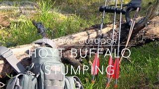 archery training   stumping with the hoyt buffalo