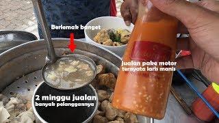 CARA JUALAN CEPET HABIS YA GINI !! BAKSONYA JEMPUT REZEKI | INDONESIA STREET FOOD #394
