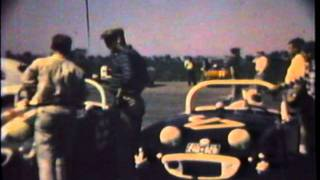 1960 Austin Healey Bugeye Sprite at the race track St Eugene  Quebec Canada