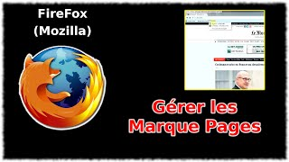 Tuto Mozilla FireFox - Gérer les Maque Pages