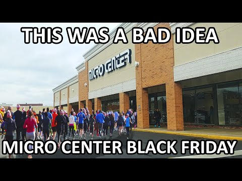 IT WAS PACKED!!! - Micro Center Black Friday Shopping!