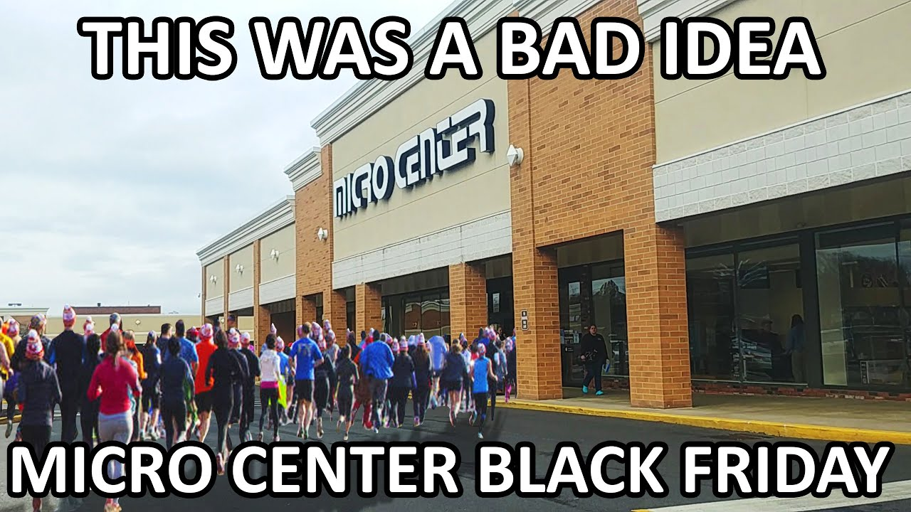 It Was Packed Micro Center Black Friday Shopping Youtube