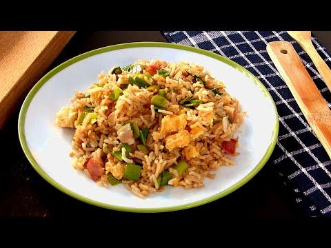 Arroz frito, una receta de arroz con huevo