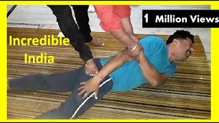 Traditional Bone-Settler In Indian Village Of Rajasthan : Chiropractor In India : Health & Treatment