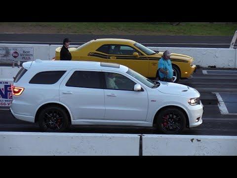 2018 Dodge Durango SRT vs Challenger R/T -drag racing