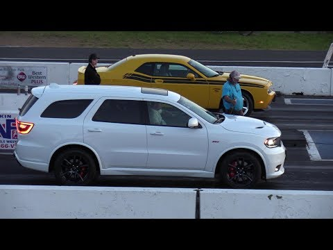 2018 Dodge Durango SRT vs Challenger R/T -drag racing