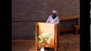 Burgess Lecture - The Rev. Dr. Elieshi Ayo Mungure