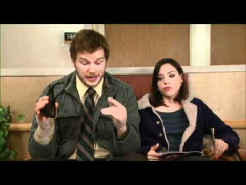 preview parks recreation campaign ad andy april discuss all of their medical tests. Black Bedroom Furniture Sets. Home Design Ideas