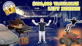Abandoned Warehouse With Extreme Valuables Left Behind! (Someone Was Inside!)