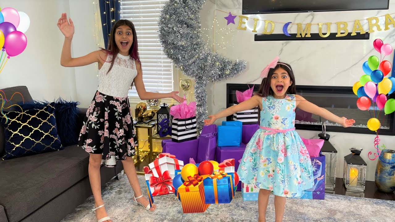 Download Deema and Sally Surprise Happy Eid with Toys!! Family fun vlogs