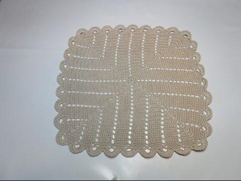 Crochet Uncinetto Centrino Quadrato Infinito Youtube