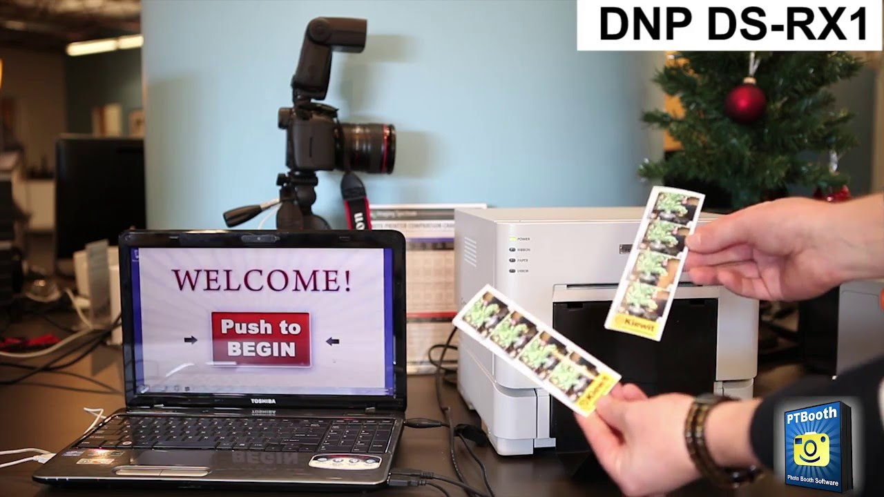 Photo Booth Printer - DNP DS-RX1 - 2x6 Cut Driver Demo